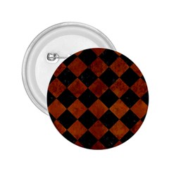 Square2 Black Marble & Brown Burl Wood 2 25  Button by trendistuff