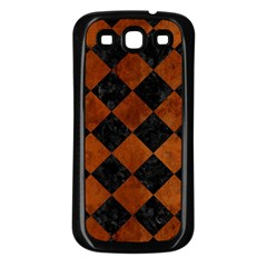 Square2 Black Marble & Brown Burl Wood Samsung Galaxy S3 Back Case (black) by trendistuff