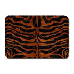 Skin2 Black Marble & Brown Burl Wood Plate Mat by trendistuff