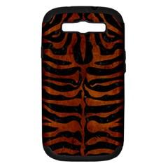 Skin2 Black Marble & Brown Burl Wood Samsung Galaxy S Iii Hardshell Case (pc+silicone) by trendistuff