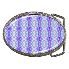 Light Blue Purple White Girly Pattern Belt Buckles by Costasonlineshop