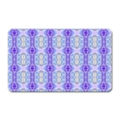 Light Blue Purple White Girly Pattern Magnet (rectangular) by Costasonlineshop