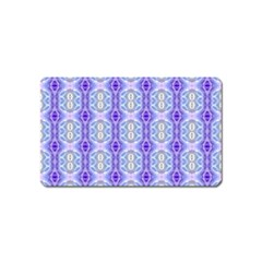 Light Blue Purple White Girly Pattern Magnet (name Card) by Costasonlineshop