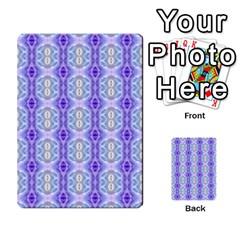 Light Blue Purple White Girly Pattern Multi Purpose Cards (rectangle)  by Costasonlineshop