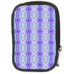Light Blue Purple White Girly Pattern Compact Camera Cases by Costasonlineshop