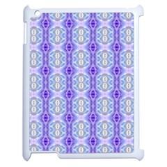 Light Blue Purple White Girly Pattern Apple Ipad 2 Case (white) by Costasonlineshop