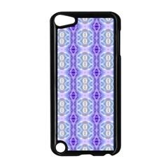 Light Blue Purple White Girly Pattern Apple iPod Touch 5 Case (Black) by Costasonlineshop