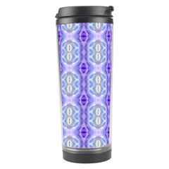 Light Blue Purple White Girly Pattern Travel Tumblers by Costasonlineshop