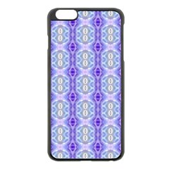 Light Blue Purple White Girly Pattern Apple Iphone 6 Plus/6s Plus Black Enamel Case by Costasonlineshop