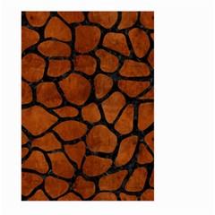 Skin1 Black Marble & Brown Burl Wood Large Garden Flag (two Sides) by trendistuff