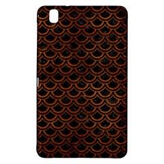 Scales2 Black Marble & Brown Burl Wood Samsung Galaxy Tab Pro 8 4 Hardshell Case by trendistuff