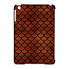 Scales1 Black Marble & Brown Burl Wood (r) Apple Ipad Mini Hardshell Case (compatible With Smart Cover) by trendistuff