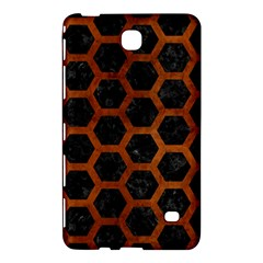 Hexagon2 Black Marble & Brown Burl Wood Samsung Galaxy Tab 4 (7 ) Hardshell Case  by trendistuff