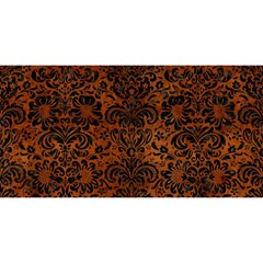 Damask2 Black Marble & Brown Burl Wood (r) You Are Invited 3d Greeting Card (8x4) by trendistuff