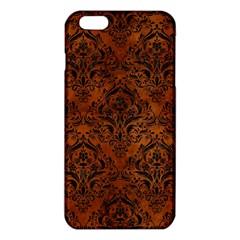 Damask1 Black Marble & Brown Burl Wood (r) Iphone 6 Plus/6s Plus Tpu Case by trendistuff