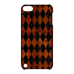 Diamond1 Black Marble & Brown Burl Wood Apple Ipod Touch 5 Hardshell Case With Stand by trendistuff