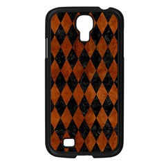 Diamond1 Black Marble & Brown Burl Wood Samsung Galaxy S4 I9500/ I9505 Case (black) by trendistuff