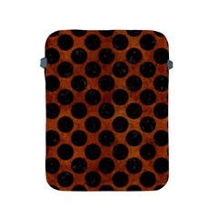 Circles2 Black Marble & Brown Burl Wood (r) Apple Ipad 2/3/4 Protective Soft Case by trendistuff