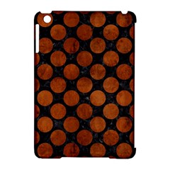 Circles2 Black Marble & Brown Burl Wood Apple Ipad Mini Hardshell Case (compatible With Smart Cover) by trendistuff