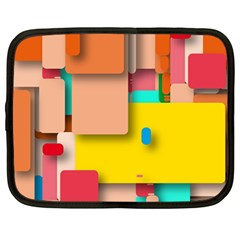 Rounded Rectangles Netbook Case (large) by hennigdesign