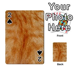 Orange Fur 2 Playing Cards 54 Designs  by timelessartoncanvas