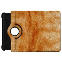 Orange Fur 2 Kindle Fire Hd Flip 360 Case by timelessartoncanvas