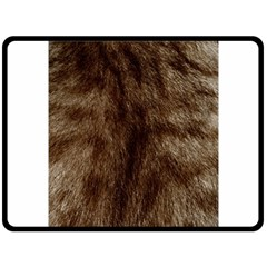 Silber Tiger Fur Fleece Blanket (large)  by timelessartoncanvas