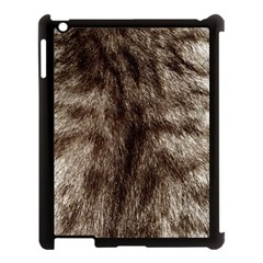 Black And White Silver Tiger Fur Apple Ipad 3/4 Case (black) by timelessartoncanvas
