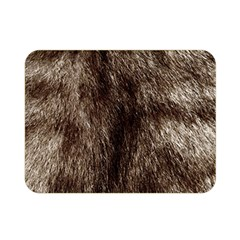Black And White Silver Tiger Fur Double Sided Flano Blanket (mini)  by timelessartoncanvas