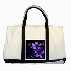Springtime Flower Design Two Tone Tote Bag by timelessartoncanvas