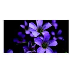 Springtime Flower Design Satin Shawl by timelessartoncanvas