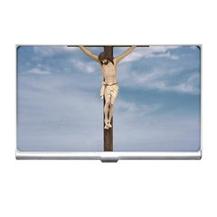 Jesus On The Cross Illustration Business Card Holders by dflcprints