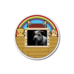 But The Pit Bull Rubber Round Coaster (4 Pack)  by ButThePitBull