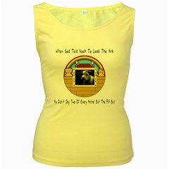 But The Pit Bull Women s Yellow Tank Tops by ButThePitBull