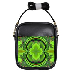 Green Clover Girls Sling Bags by Delasel