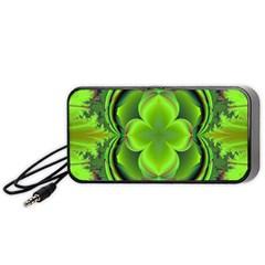 Green Clover Portable Speaker (Black)  by Delasel