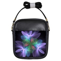 Ethereal Flowers Girls Sling Bags by Delasel