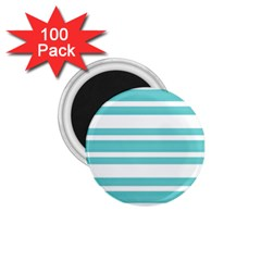 Teal Adn White Stripe Designs 1 75  Magnets (100 Pack)  by timelessartoncanvas