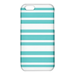Teal adn White Stripe Designs iPhone 6/6S TPU Case by timelessartoncanvas