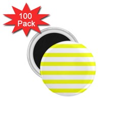 Bright Yellow And White Stripes 1 75  Magnets (100 Pack)  by timelessartoncanvas