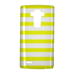 Bright Yellow and White Stripes LG G4 Hardshell Case by timelessartoncanvas