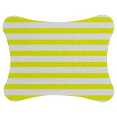 Bright Yellow And White Stripes Jigsaw Puzzle Photo Stand (bow) by timelessartoncanvas