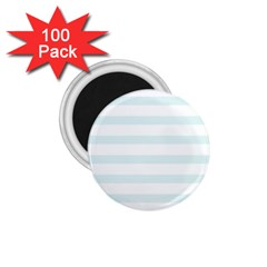 Baby Blue And White Stripes 1 75  Magnets (100 Pack)  by timelessartoncanvas