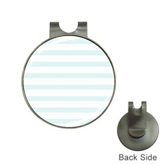 Baby Blue And White Stripes Hat Clips With Golf Markers by timelessartoncanvas