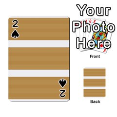 Beige/ Brown And White Stripes Design Playing Cards 54 Designs  by timelessartoncanvas