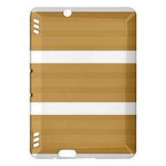 Beige/ Brown And White Stripes Design Kindle Fire Hdx Hardshell Case by timelessartoncanvas