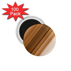 Metallic Brown/neige Stripes 1 75  Magnets (100 Pack)  by timelessartoncanvas