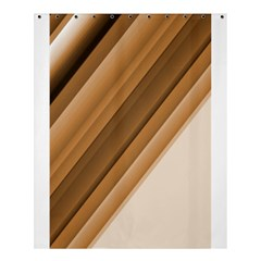 Metallic Brown/neige Stripes Shower Curtain 60  X 72  (medium)  by timelessartoncanvas