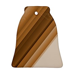 Metallic Brown/neige Stripes Bell Ornament (2 Sides) by timelessartoncanvas