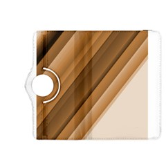 Metallic Brown/Neige Stripes Kindle Fire HDX 8.9  Flip 360 Case by timelessartoncanvas